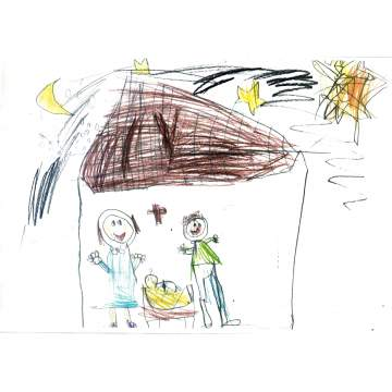 Christmas card entry - Heidi Fellows, Year 1, from St Mary's CE Primary School in Kingswinford