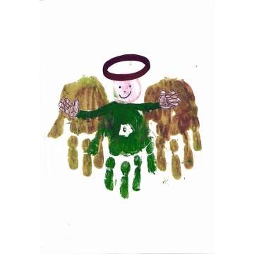 Christmas card entry - Zack Malpass, Purple Class, Pens Meadow School